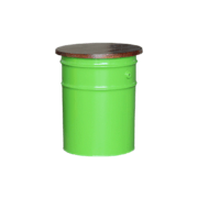 storage drum stool green