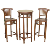Maxwell Teak Bar Set (2)