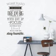 Wall Decal Work Hard Vinyl Wall Sticker