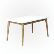 Scandinavian dining furniture white finishing