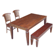 Marion Teak Dining table, dining chair, bench set furniture sg