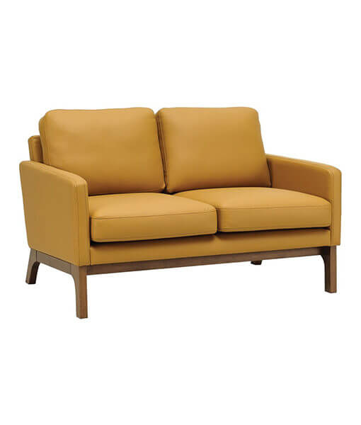 leather sofa for small space caramel