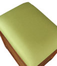 Samara Teak Storage Stool in Green Cactus color fabric (1)