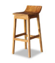 Solid Wood High Bar Chair